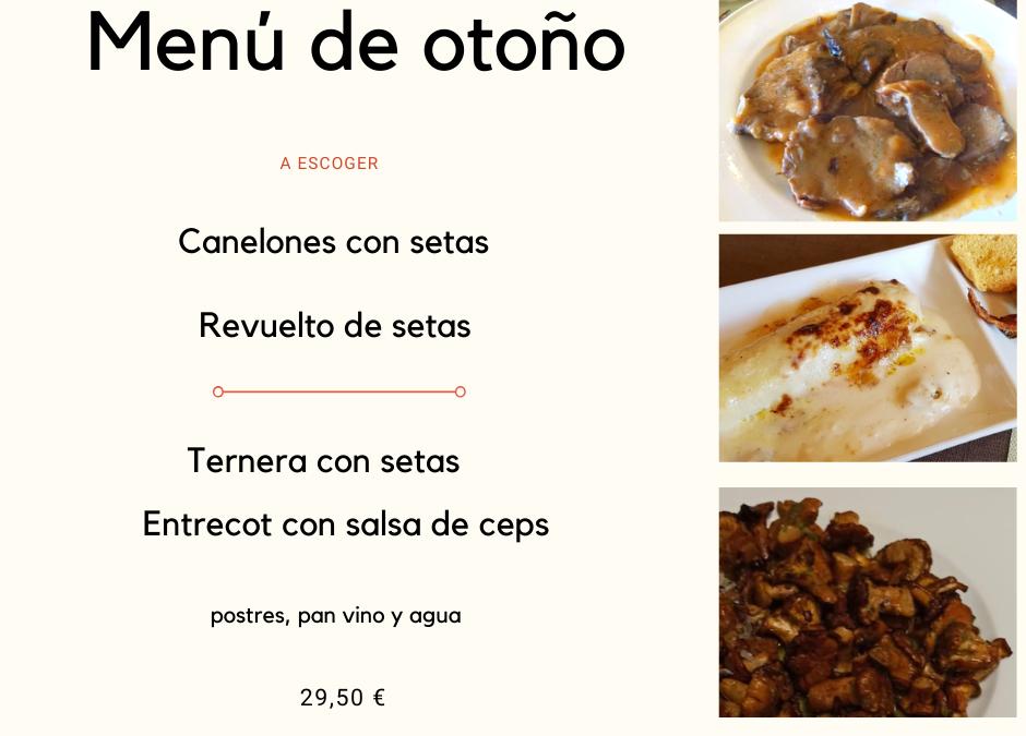 Menú de otoño en Restaurant Can Carola